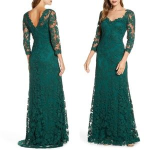 TADASHI SHOJI Corded Embroidered Lace Gown